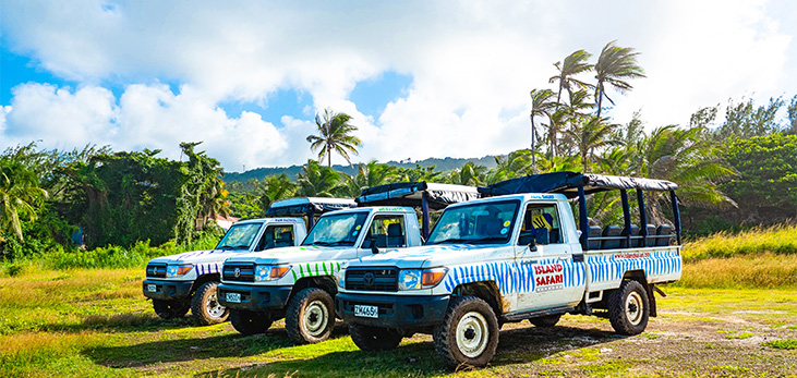 Island Safari Jeeps Touring the Island, Barbados Pocket Guide