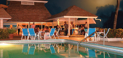 Entertainment at the Poolside, Southern Palms, St. Lawrence Gap, Christ Church, Barbados Pocket Guide
