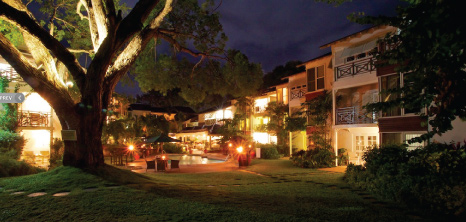 Nighttime View of Treasure Beach Barbados Hotel, Paynes Bay, St. James, Barbados Pocket Guide