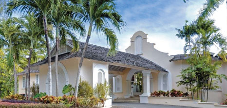 Entrance of Turtle Beach Resort, Dover, Christ Church, Barbados Pocket Guide