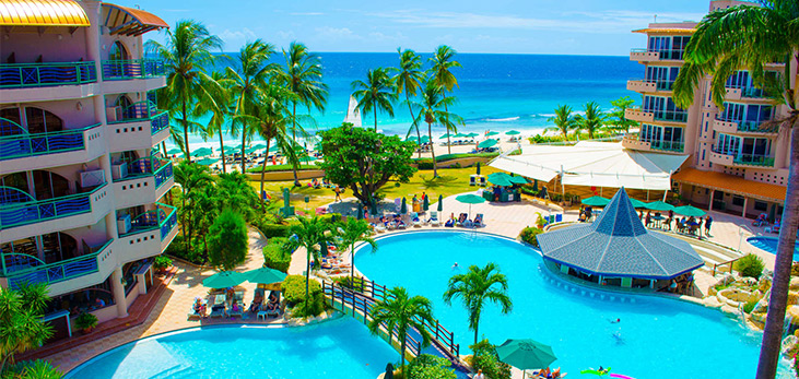 View of Accra Beach Hotel, Rockley, Christ Church, Barbados Pocket Guide