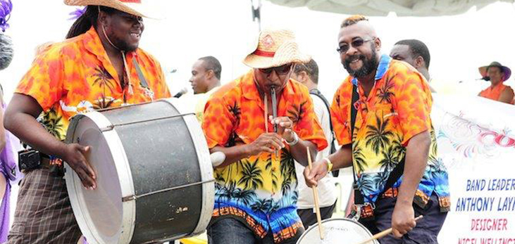 Steel Pan Music Being Played at Holetown Festival, St. James, Barbados Pocket Guide
