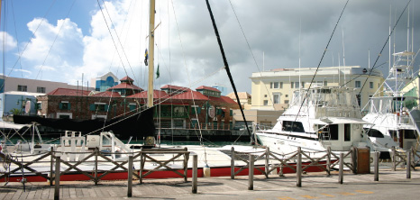 Yachts Docked at the Careenage, Bridgetown, St. Michael, Barbados Pocket Guide