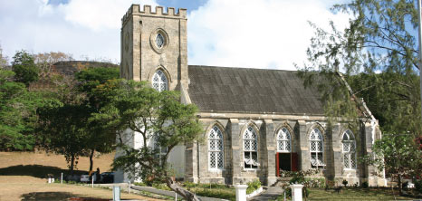 Distant View of St. Andrew's Parish Church, Walkers, St. Andrew, Barbados Pocket Guide