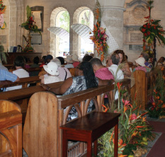 A Section of the Congregation at St. James Parish Church, Holetown, St. James, Barbados Pocket Guide