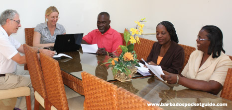Meeting in Progress at Worthing Court Apartment Hotel, Barbados Pocket Guide