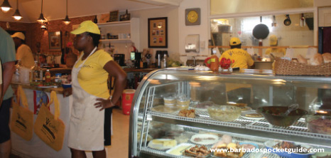 Waitresses at Cutters of Barbados Getting Ready to Serve Patrons, Barbados Pocket Guide