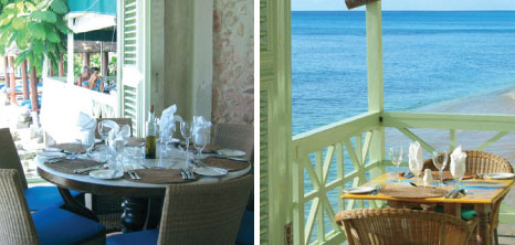 Tables Set on the Balcony at Fishpot Restaurant, Shermans, St. Lucy, Barbados Pocket Guide