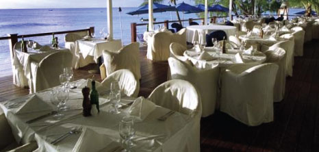Well Laid Out Dinner Tables at Lonestar Restaurant, Mount Standfast, St. James, Barbados Pocket Guide