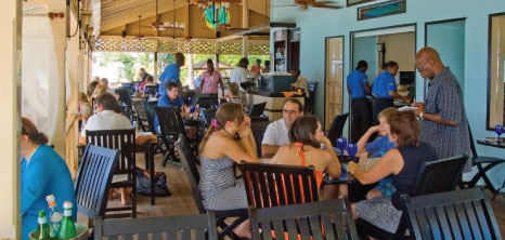 Patrons Making Orders at Mullins Restaurant, Gibbs, St. Peter, Barbados Pocket Guide