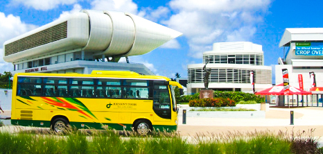 Johnson's Tours Bus Outside Kensington Oval, Bridgetown, Barbados Pocket Guide