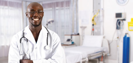 Portrait of Medical Doctor at a Hospital, Barbados Pocket Guide