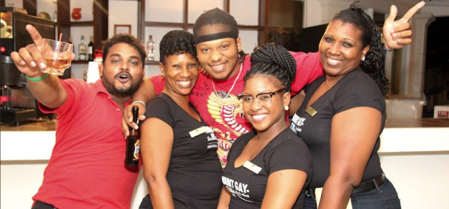 Staff from both Savannah Beach Hotel and iMart Convenience Stores, having a great time