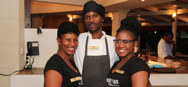 Some of the hardworking staff from Savannah Beach Hotel