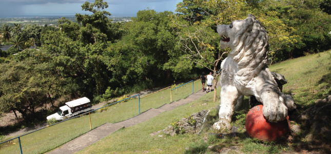 The Lion at Gun Hill Signal Station, St. George, Barbados