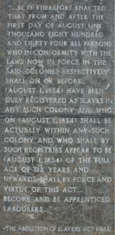 Inscription on the Emancipation Statue, Barbados Pocket Guide
