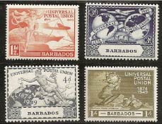 Postal Service Old Stamps, Barbados Pocket Guide