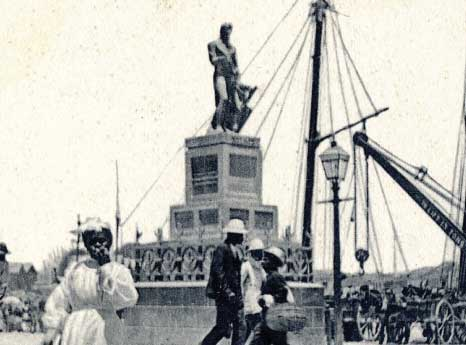 Lord Nelson's Statue in Bridgetown of Years Gone By, Barbados Pocket Guide