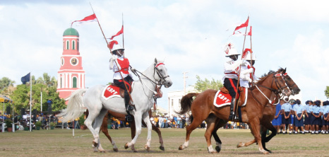 Mounted Police on Parade at the Historic Garrison Savannah, St. Michael, Barbadod Pocket Guide