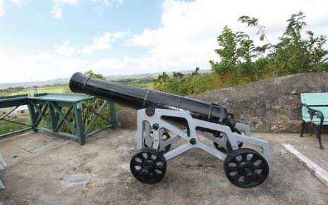 Canons on Display at Gun Hill Signal Station, St. George, Barbados Pocket Guide