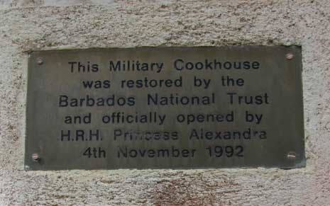 Sign Outside the Military Cookhouse, Gun Hill Signal Station, St. George, Barbados Pocket Guide