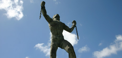 Emancipation Statue Portraying Bussa With His Hands Unshackled, Barbados Pocket Guide