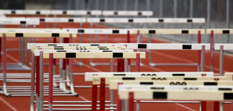 Hurdles on Olympic Track
