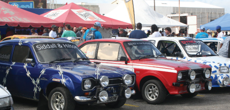 Scrutineering of Rally Cars at Simpson Motors, Warrens, St. Michael, Barbados Pocket Guide