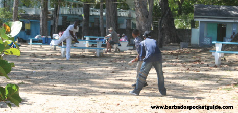 Young Boys Playing Cricket at Holetown Beach, St. James, Barbados Pocket Guide