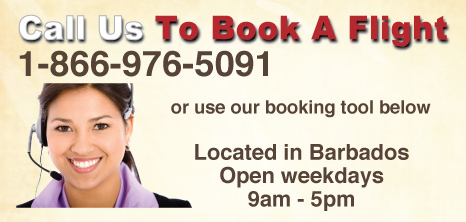 Call Us To Book A Flight Advert, Barbados Pocket Guide