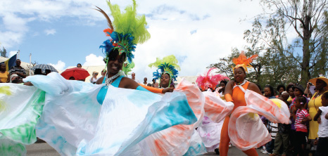Dancers at the Holetown Festival, Barbados Pocket Guide
