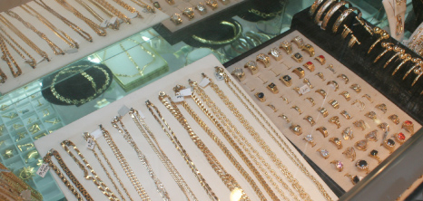 Jewellery on Display at a Duty Free Shop in Bridgetown, St. Michael, Barbados Pocket Guide
