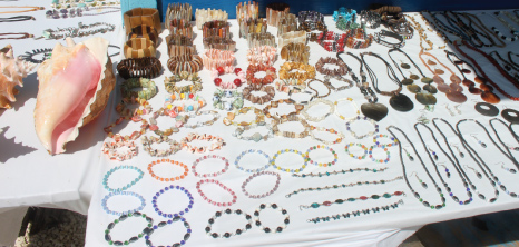 Local Jewellery on Sale at Holetown Festival, St. James, Barbados Pocket Guide