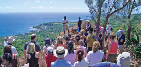 Visitors Listening Attentively to an Island Safari Tour Guide While on Your in the Countryside, Barbados Pocket Guide