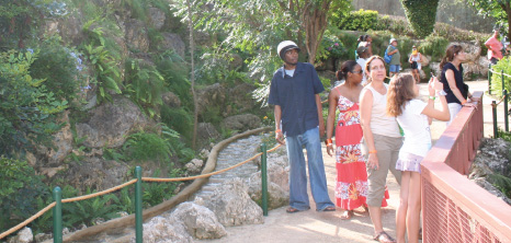 Visitors on Open Day at Graeme Hall Nature Sanctuary, Christ Church, Barbados Pocket Guide