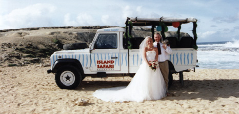 Couple on an Island Safari Wedding, Barbados Pocket Guide