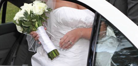 Bride Getting Out of a Limousine on her Wedding Day, Barbados Pocket Guide