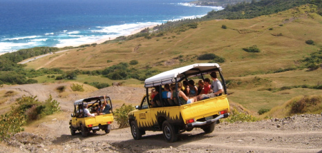 Adventureland 4X4 Jeeps on Tour at East Coast, St. Andrew, Barbados Pocket Guide