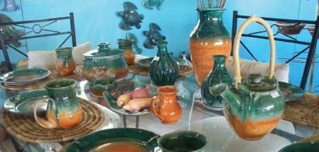 Finished Pottery on Display at Chalky Mount Potteries, Chalky Mount, St. Andrew, Barbados Pocket Guide