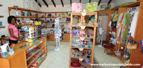 Clothing & Accessories on Sale at a Souvenir Shop, Barbados Pocket Guide