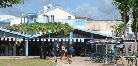 Visitors Making Their Way to Copacabana Beach Bar & Grill for Lunch, Bay Street, St. Michael, Barbados Pocket Guide