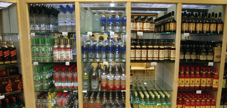 Rum on Display at the Refinery, Grantley Adams International Airport, Barbados Pocket Guide
