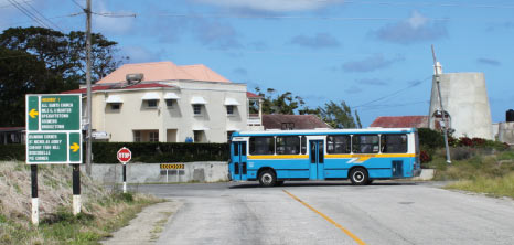 Transport Board Bus Driving Through the Country, Barbados Pocket Guide