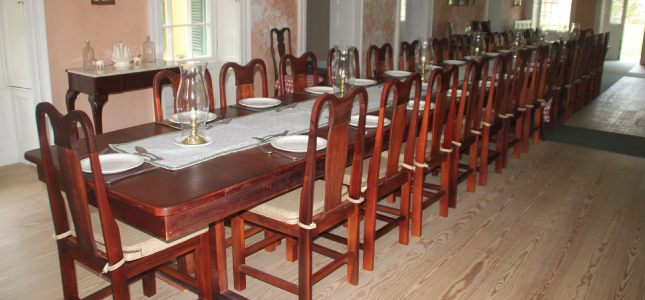 1751 Setting of Dinner at George Washington House, Barbados