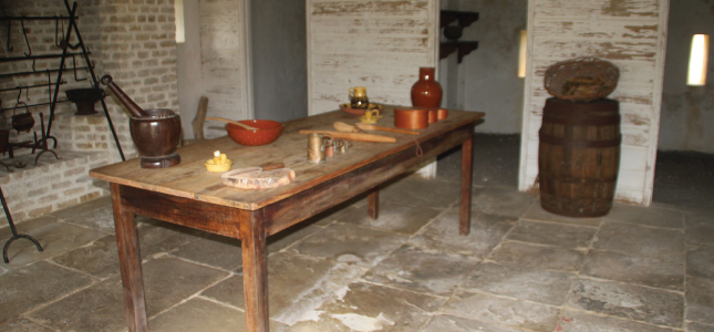Artefacts of the kitchen, George Washington House, Barbados