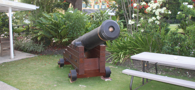 Canon at George Washington House, Barbados