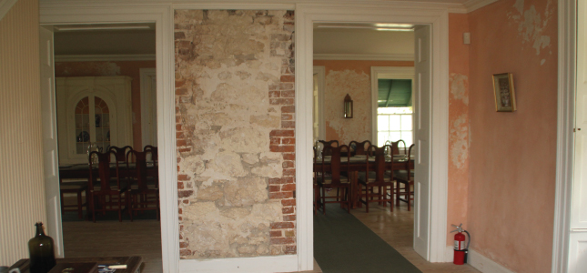 Walls with Original Brickwork, George Washington House, Barbados