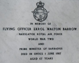 Errol Walton Barrow's Headstone, Barbados Military Cemetery, Barbados Pocket Guide