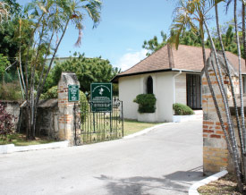 Entrance to the Barbados Military Cemetery, Barbados Pocket Guide
