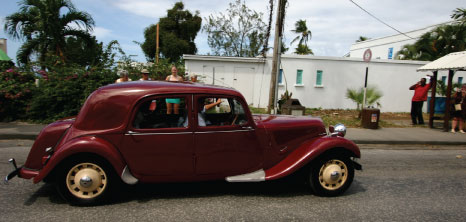Antique Car on Parade in the Streets at Holetown Festival, St. James, Barbados Pocket Guide